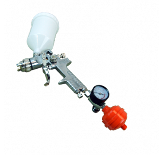 HVLP Spray Gun + Regulator and Air Filter (20 oz., 1.4 mm tip)